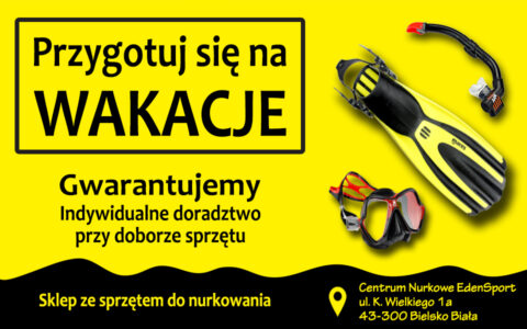 Przygotuj się na wakacje - sprzęt podstawowy maska fajka i płetwy