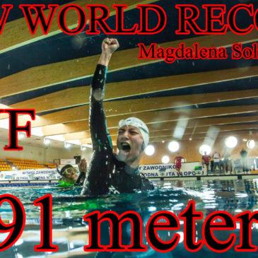 Nowy Rekord Świata 191 metrów – Magdalena Solich-Talanda – Freediving
