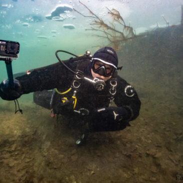 1.12.2020 – Pierwsze nurkowanie podlodowe tej zimy!