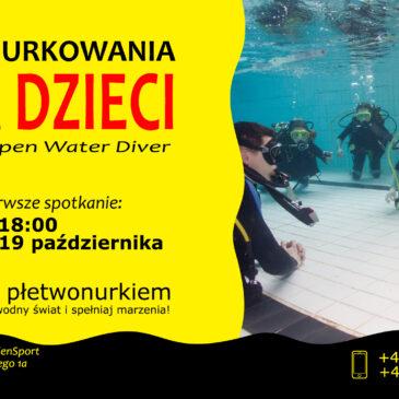 19.10.2021 – Kurs nurkowania dla dzieci 10-15 lat – płetwonurek Junior OWD