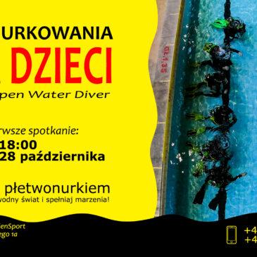 28.10.2021 – Kurs nurkowania dla dzieci 10-15 lat – płetwonurek Junior OWD